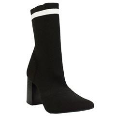 Sock Boot Cano Médio em Crochê Preto 8900