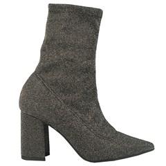 cda7dbed0 Sock Boot Cano Médio Prata ...