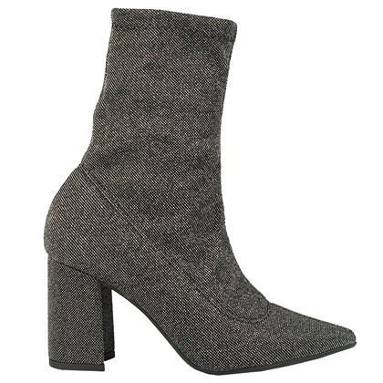 Sock Boot Cano Médio Prata 226