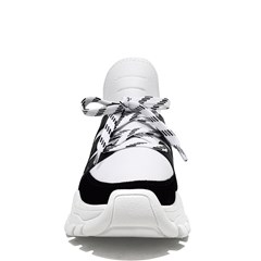 Sock Sneakers em Neoprene Branco e Preto 5984