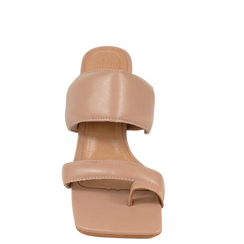 Tamanco Kim Salto Taça Nude Couro 5-128