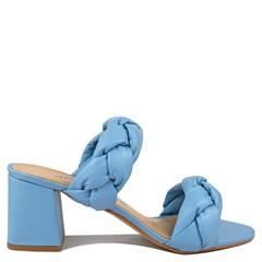 Tamanco Mel Azul Sky Couro 6533