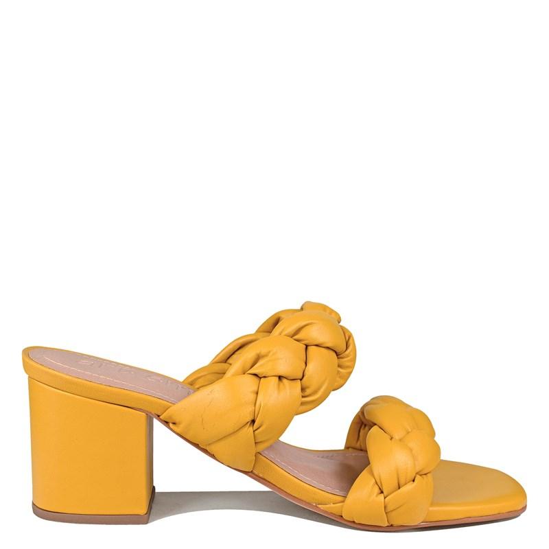 Tamanco Sabrina Amarelo Couro 5-108
