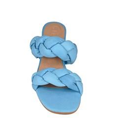 Tamanco Sabrina Azul Sky Couro 5-108
