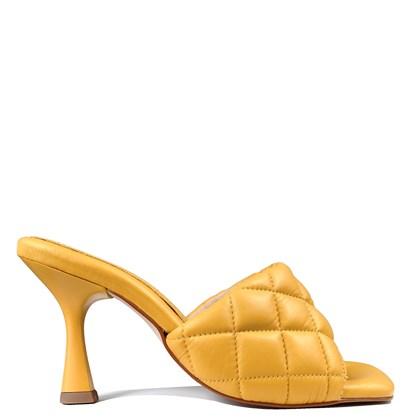 Tamanco Sarah Salto Taça Amarelo Matelasse 5-100