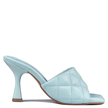 Tamanco Sarah Salto Taça Baby Blue Matelasse 5-100