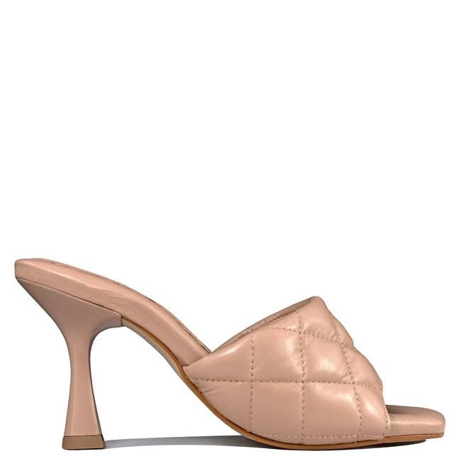 Tamanco Sarah Salto Taça Nude Bottega Veneta inspired 5-100