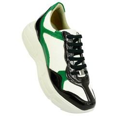 Tênis Balenciaga Inspired em Napa Branco e Verde 4501