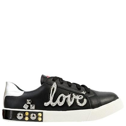 d331d0eb24 Tênis Dolce & Gabbana Inspired Love em Napa Preto 845 - ArtemPe