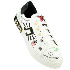 Tênis Dolce & Gabbana Inspired Music em Napa Branco 842