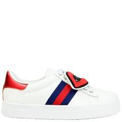 Tênis Gucci Inspired de Cobra com Strass em Couro Branco 0082 - ArtemPe 41ced93c913
