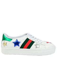 Tênis Gucci Inspired em Couro Branco com Estrelas 127