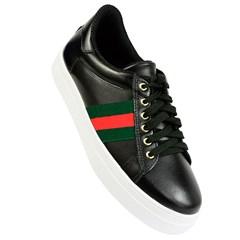 Tênis Gucci Inspired em Couro Preto 003